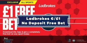 Ladbrokes £/€1 Free Bet No Deposit On Any Sport - For UK & Irish Customers